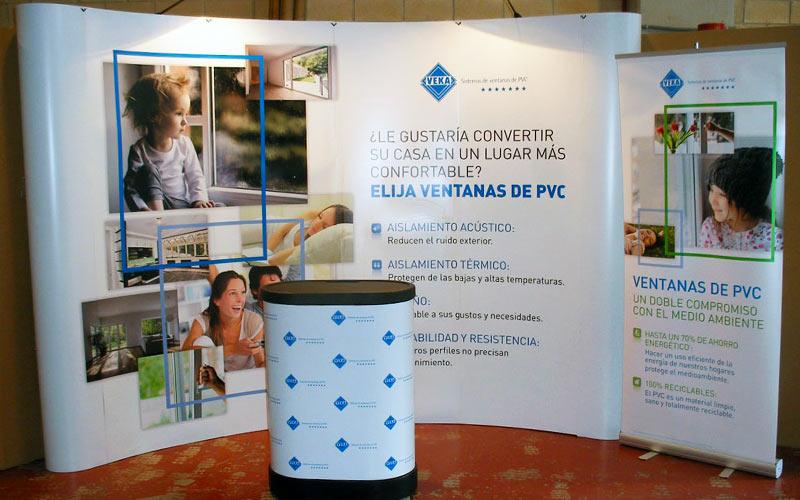 Rotulación de stands de empresas y atriles para eventos y exposiciones
